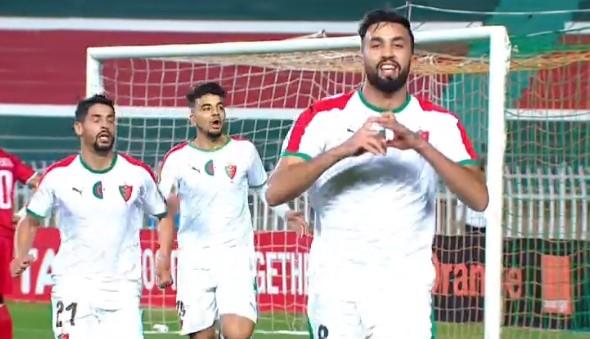 Miloud Rebiai du MC Alger ,aprés l'égalisation ce soir face au Wydad de Casanblanca en LDC CAF (Aller)