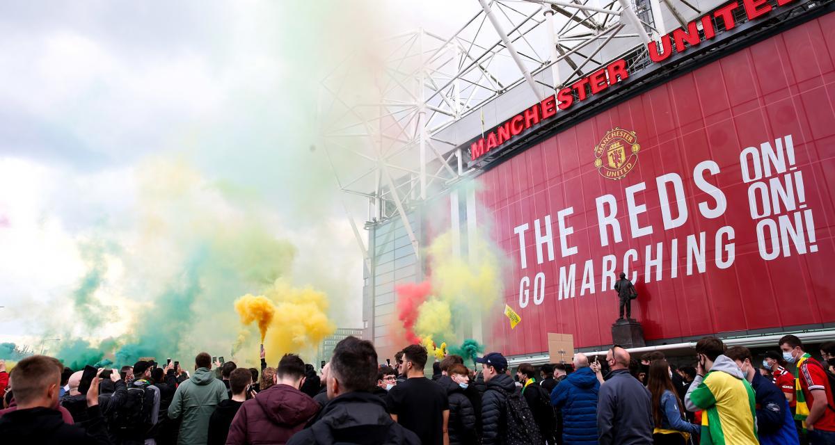 L'entrée du stade d'Old Trafford où devait se tenir Manchester United-Liverpool.