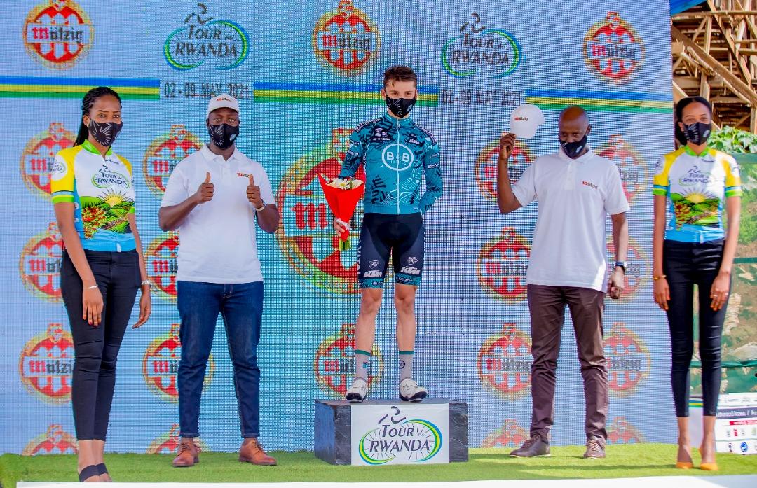 Alan Boileau, vainqueur 3e étape tour du Rwanda