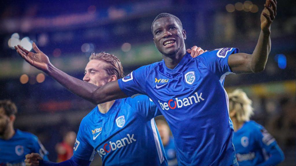 Paul Onuachu , Genk, meilleur buteur de la Jupiter Pro League (D1 Belgique) pour la saison 2020-2021 Nigeria