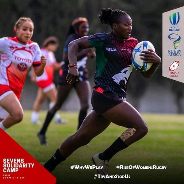 L'équipe féminine kényane de rugby 7 a été sans pitié face à celle de la Tunisie.