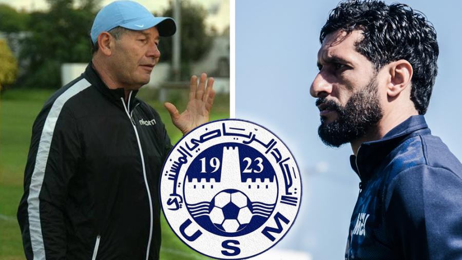 L'expérimenté Zaaboub (gauche) remplace le jeune coach Gharbi sur le banc de l'US Monastir.