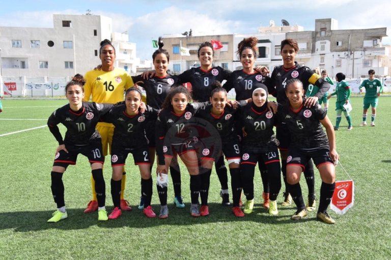 La sélection féminine tunisienne.
