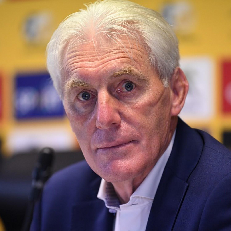 Le sélectionneur belge de l'Afrique du Sud, Hugo Broos.