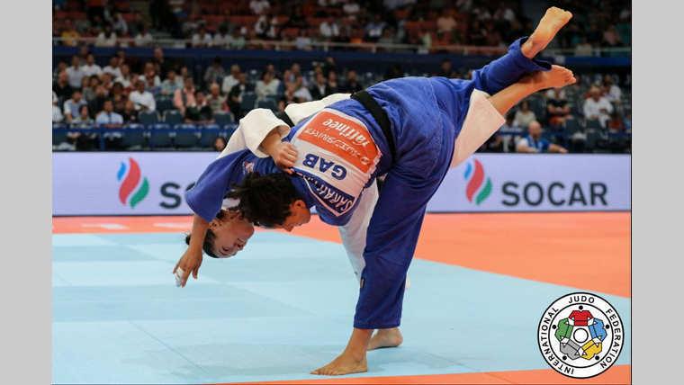 *** Local Caption *** Sarah Mazouz est tombée dès le premier tour face à la Japonaise Umeki mami