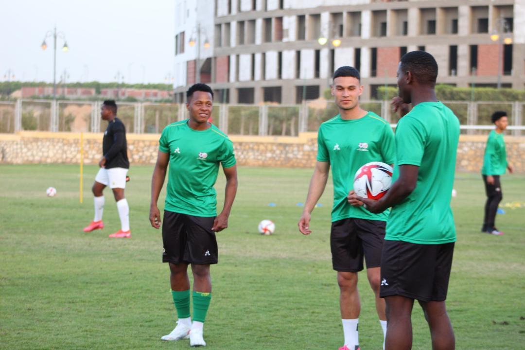 Des joueurs amateurs sud-africains à l'entrainement
