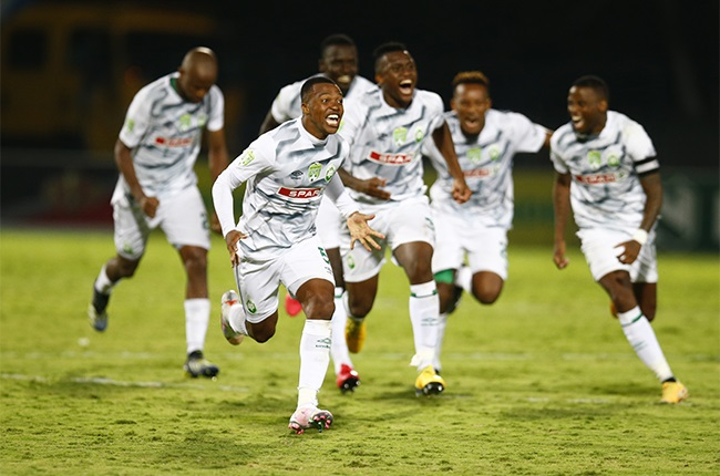 DURBAN, SOUTH AFRICA - FEBRUARY 06: Thembela Sikhakhane of AmaZulu FC after winning the Nedbank Cup, Last 32 match between Golden Arrows and AmaZulu FC at Sugar Ray Xulu Stadium on February 06, 2021 in Durban, South Africa. (Photo by Steve Haag/BackpagePix/Gallo Images)