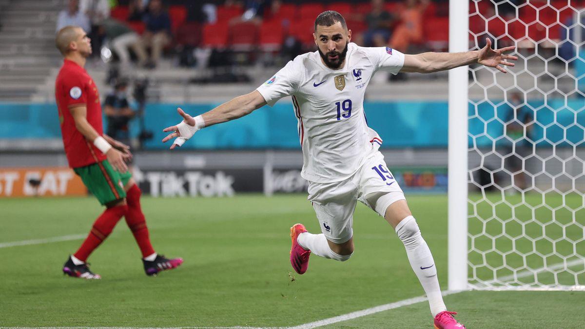 Karim Benzema a signé un doublé contre le Portugal (2-2). Il permet à la France de finir en tête du groupe F.