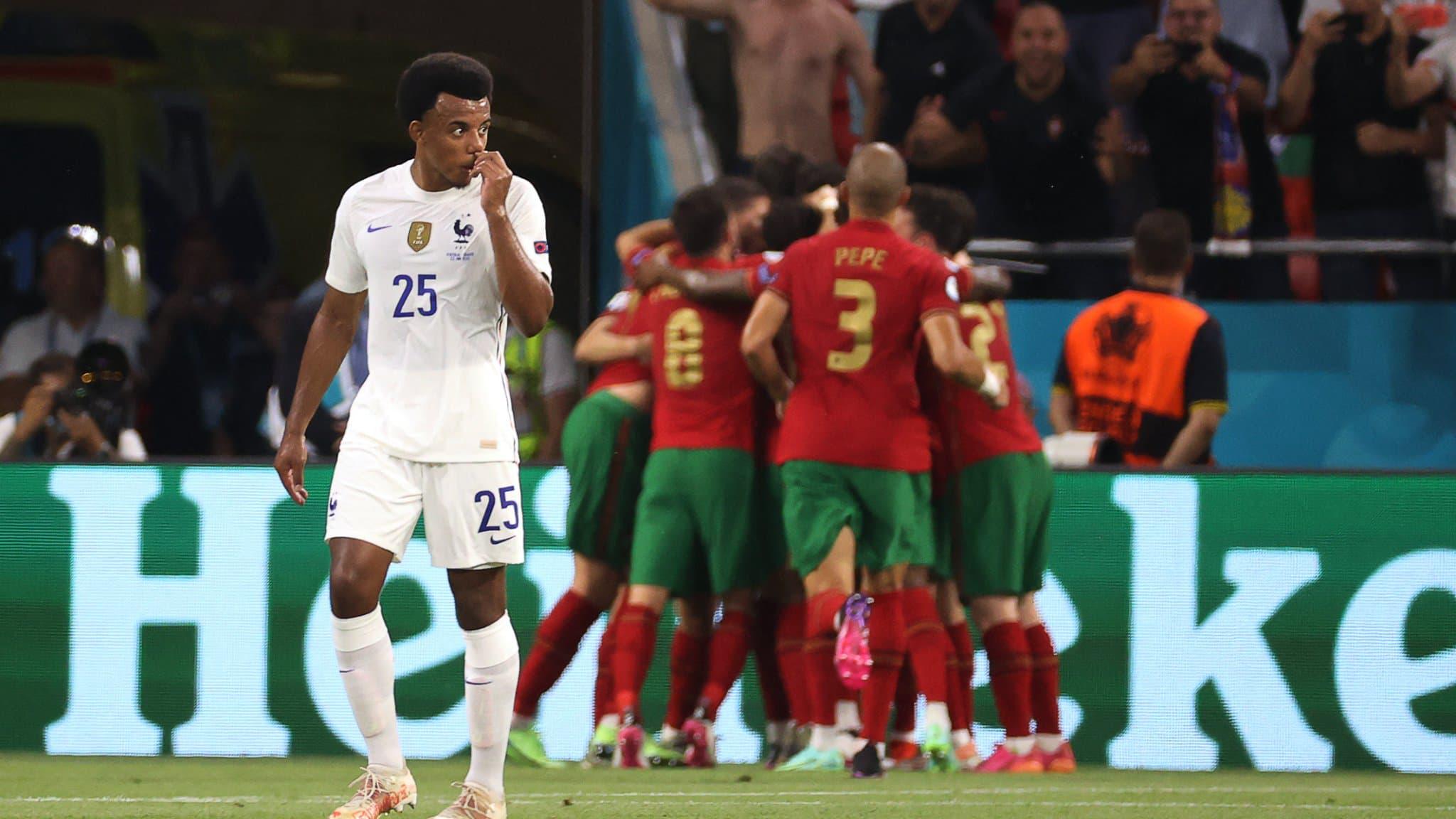 Jules Koundé lors de Portugal-France (2-2).