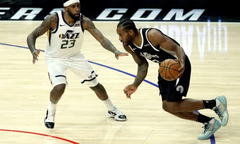Kawhi Leonard des Clippers face à Utah.