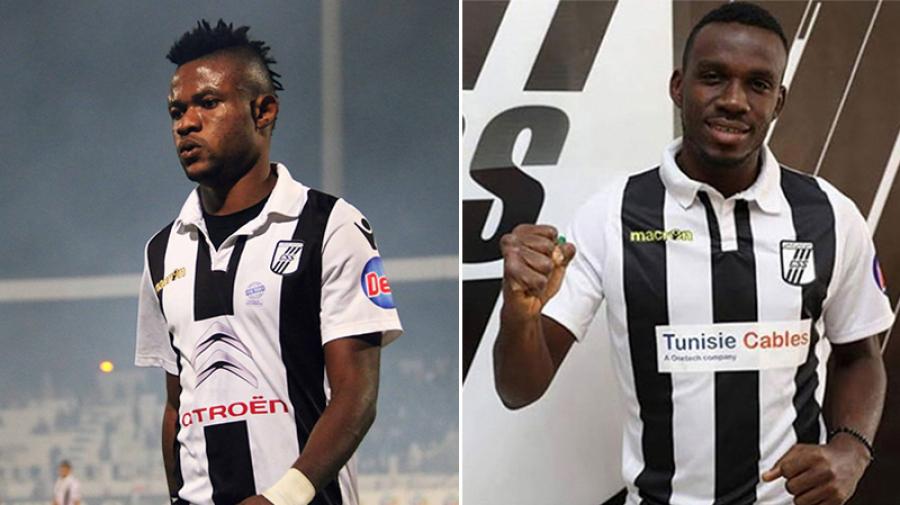 Les Nigérians Sokari (gauche) et Eduwo ne sont plus officiellement joueurs du CS Sfaxien.