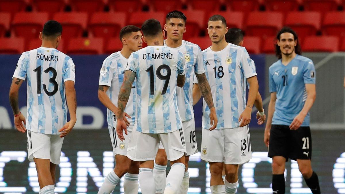 L'Argentine obtient sa première victoire face à l'Uruguay, lors de la deuxième journée de la Copa America au Brésil