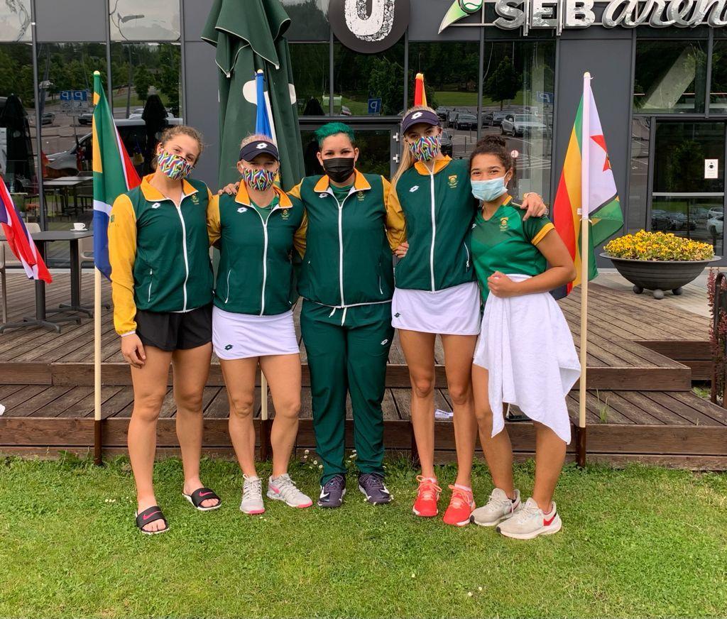 L'équipe féminine de tennis d'Afrique du Sud a battu la Namibie par 3-0 lors de leur premier match de la Coupe BJK