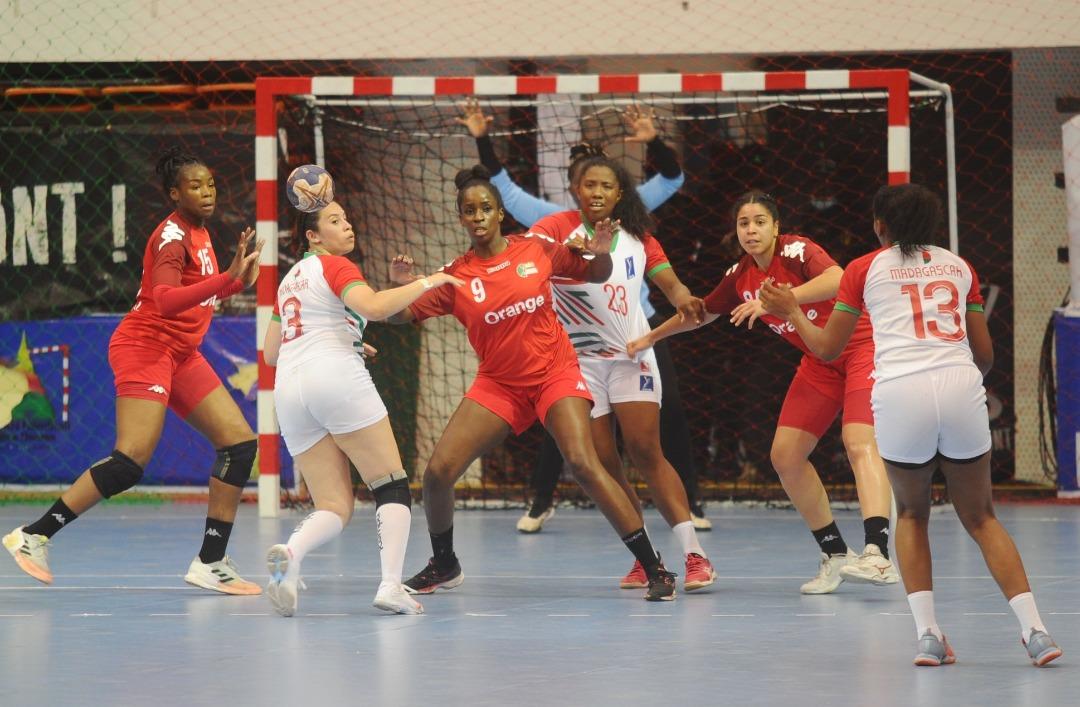 Les Sénégalaise à l'oeuvre CAN Handball
