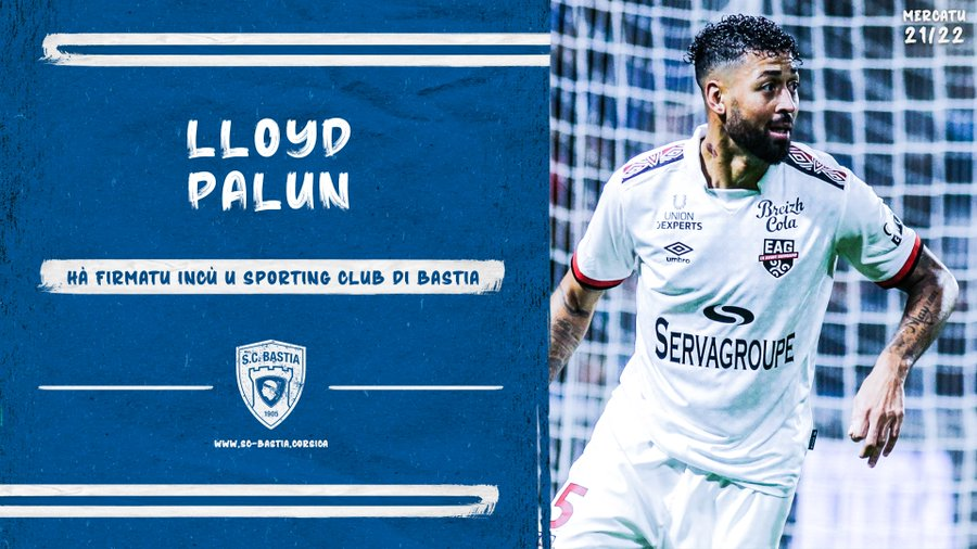 Lloyd Palun signe au Sporting Club de Bastia