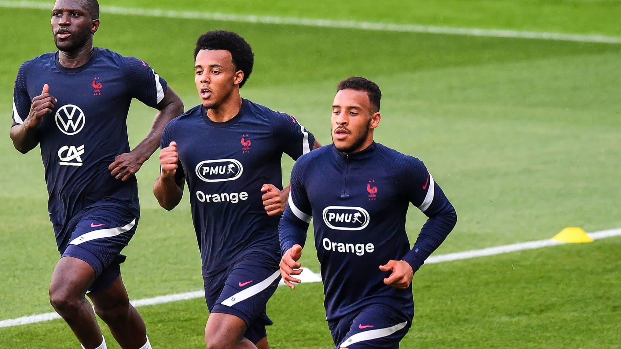 Koundé et Tolisso (au premier plan) devraient être titulaires avec la France face au Portugal.