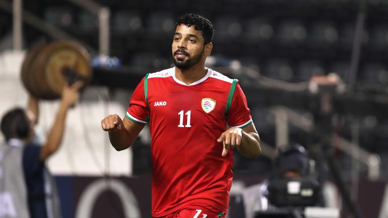 Mushen Al-Ghassani a ouvert le score pour Oman lors de la victoire (2-1) sur la Somalie.