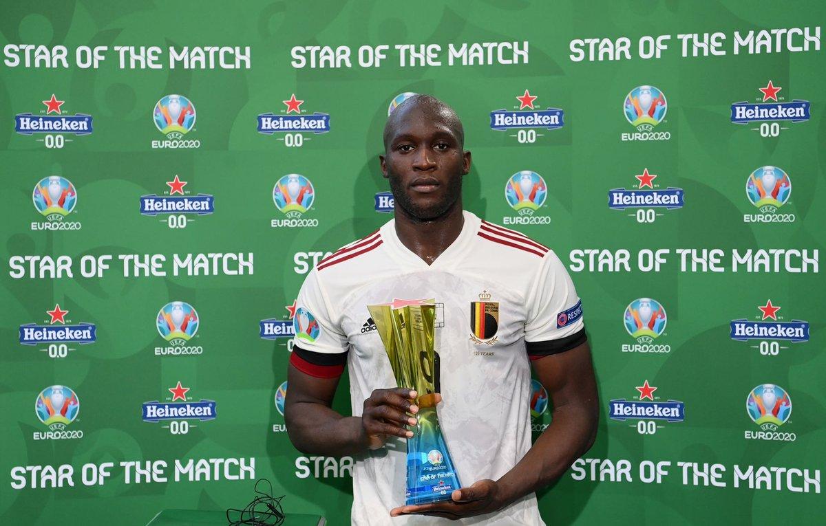 Le Belge d'origine congolaise, deux fois Homme du match depuis le début de l'Euro 2020. Il est seul joueur d'origine africaine du tournoi dans ce cas.