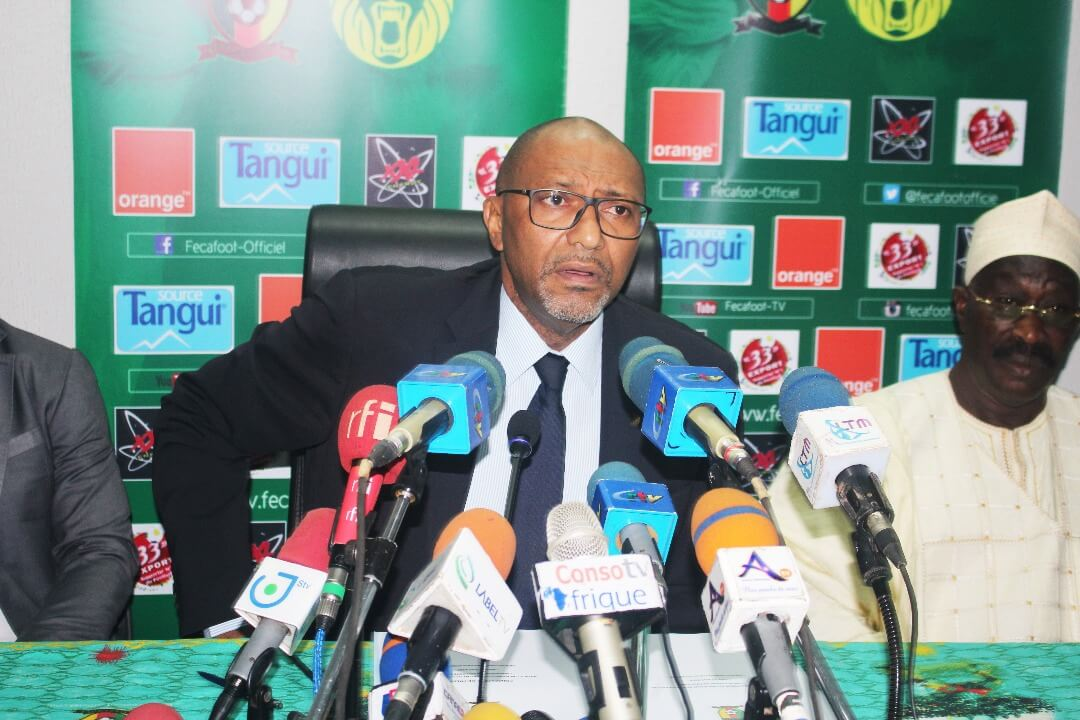 Seidou Mbombo, président de la Fécafoot.