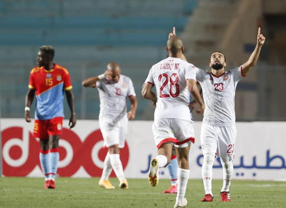 Naïm Sliti (23), seul buteur de Tunisie-RDC (1-0), ce samedi 5 juin.