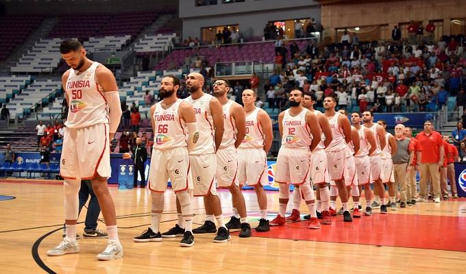 La sélection tunisienne de basket.