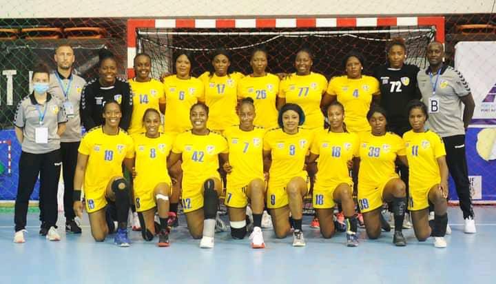 La sélection féminine de handball de la RD Congo.