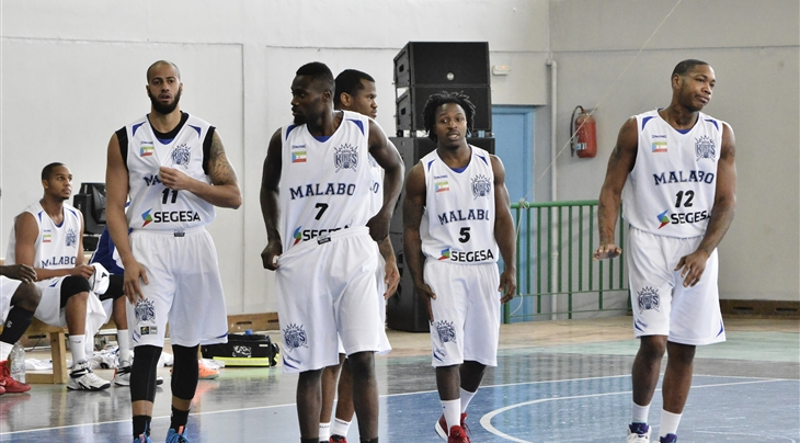 Les joueurs de Malabo Kings.
