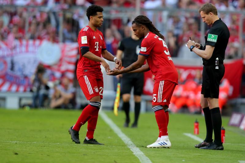 Serge Gnabry (gauche) et Renato Sanches ont joué ensemble au Bayern Munich.