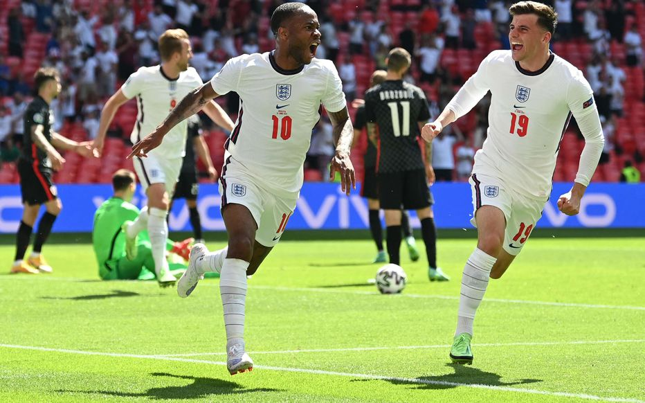 Sterling (10), auteur du but de la victoire (1-0) de l'Angleterre sur Croatie.