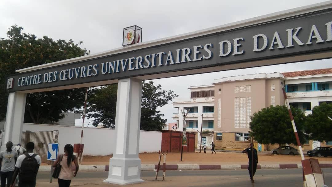 La façade principale de l'Université Cheikh Anta Diop de Dakar. Les lieux vont vibrer au rythme de l'Euro.