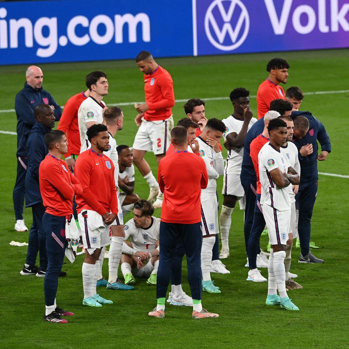 Les Anglais déçus après leur défaite en finale de l'Euro 2020, face à l'Italie.