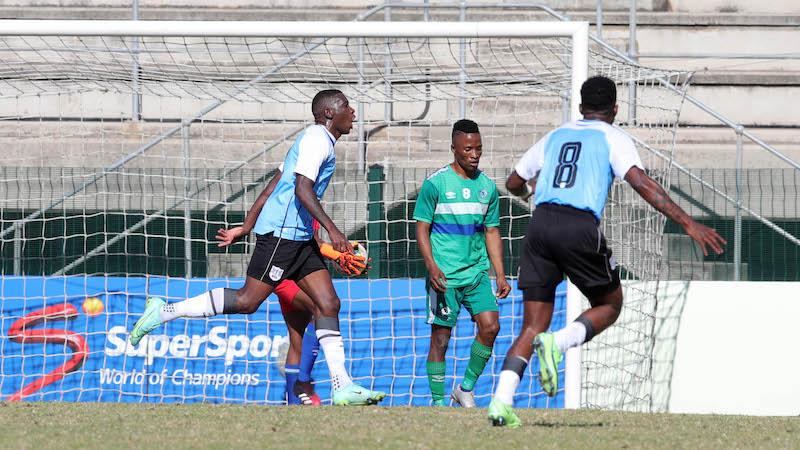 Tumisang Orebonye of Botswana during the 2021 COSAFA Cup match between Botswana and Lesotho at Nelson Isaac Wolfson Stadium, Port Elizabeth, on 09 July 2021 ©Samuel Shivambu/BackpagePix
