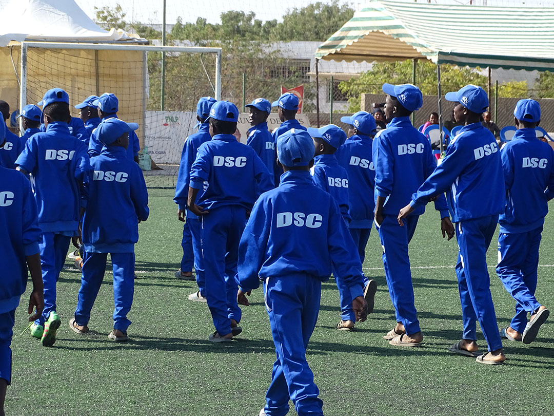 Les pensionnaires du centre de formation sénégalais Dakar Sacré Cœur.