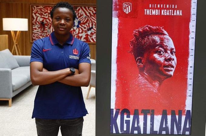 La Sud-Africaine Thembi Kgatlana, a signé,un contrat de trois ans avec l'Atletico Madrid.