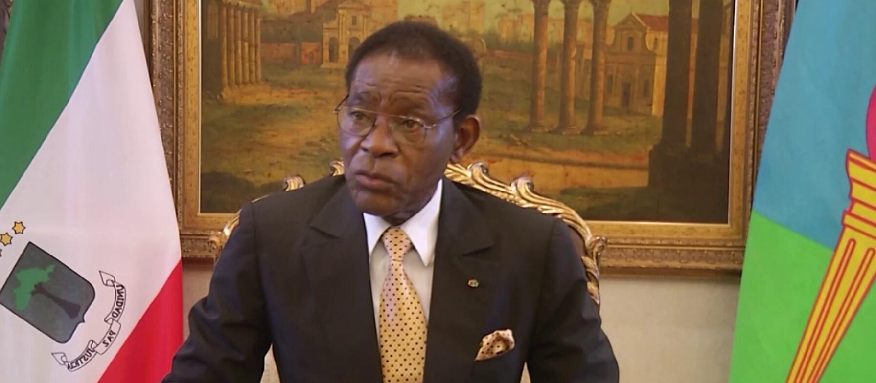 Le Président Teodoro Obiang Nguema lors de l'entretien avec RFI et SNA.