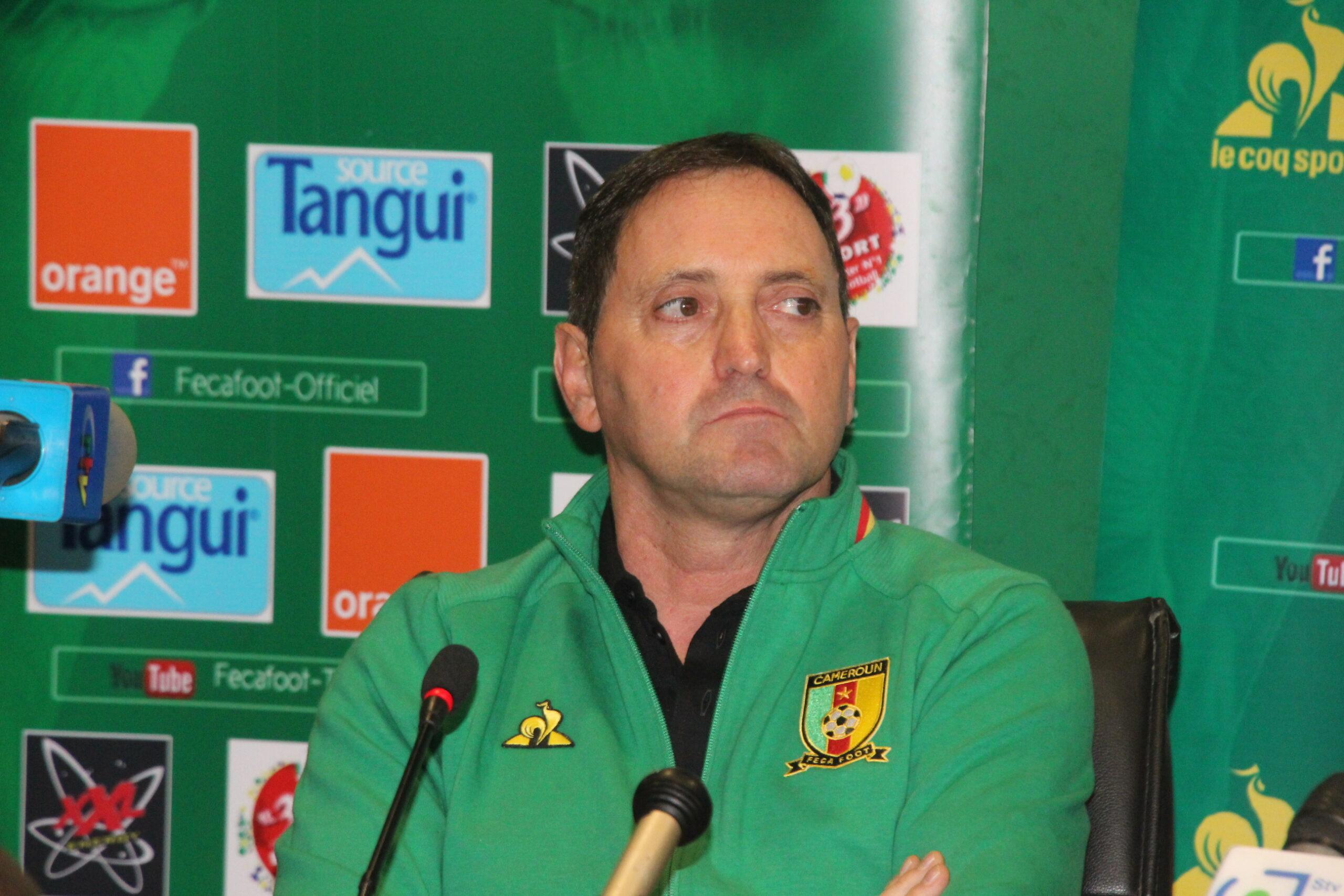 Antonio Conceiçao, sélectionneur du Cameroun.