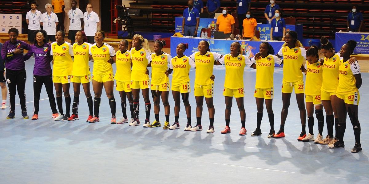 La sélection féminine de handball du Congo.