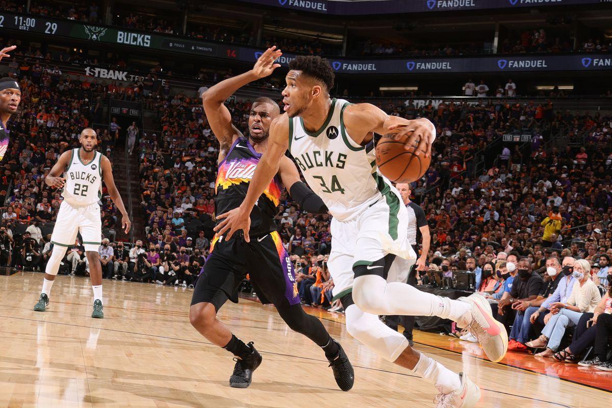 Malgré l'activité d'Antetokounmpo (34), Milwaukee s'incline une nouvelle fois face à Phoenix de Paul. Les Suns mènent 2-0 en finale NBA.