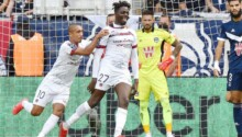 Mohamed Bayo, buteur face à Bordeaux