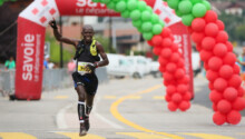 Eric Mbacha, vainqueur marathon d'Helsinki
