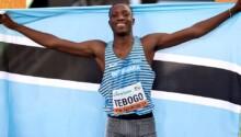 Letsile Tebogo, champion du monde du 100 m des moins de 20 ans