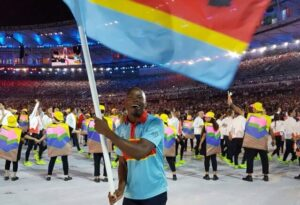 Sibusiso Matsenjwa porte-drapeau de l'Eswatini