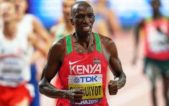 Timothy Cheruiyot, médaillé d'argent olympique au 1500 m.