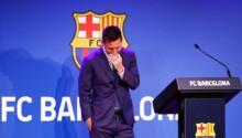 Lionel Messi émotion conf de presse