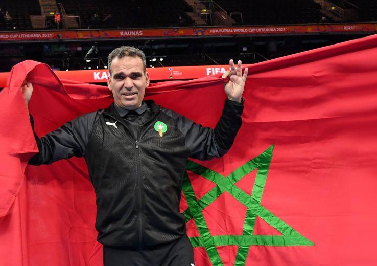 Hicham Dguig, sélectionneur de l'équipe  marocaine Futsal