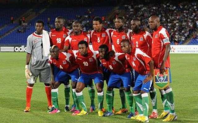 La sélection gambienne.