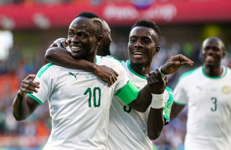 Sadio Mané (10) buteur avec le Sénégal face au Togo (archives).