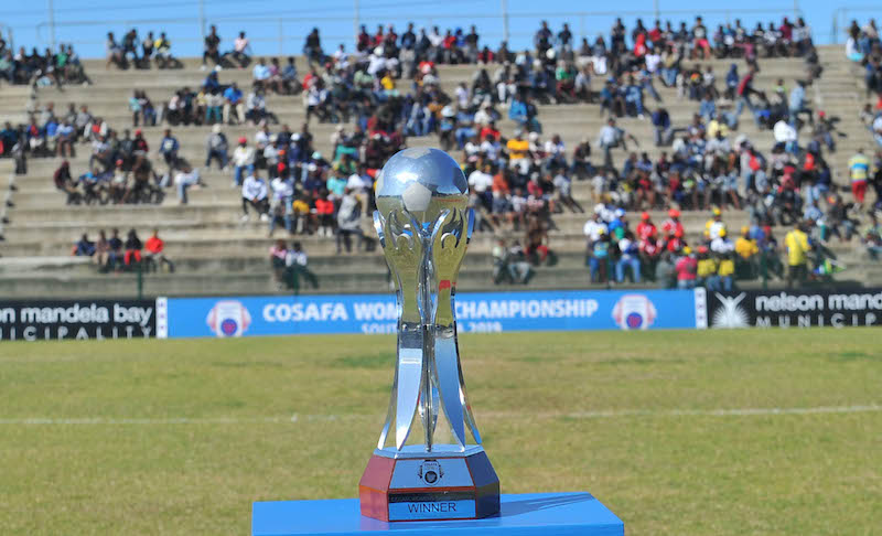 Gv of the COSAFA Women's Championship Trophy  during the 2019 COSAFA Women Championship Final match between Zambia and South Africa on the 11 August  2019 at Wolfson Stadium,  Port Elizabeth Pic Sydney Mahlangu/ BackpagePix