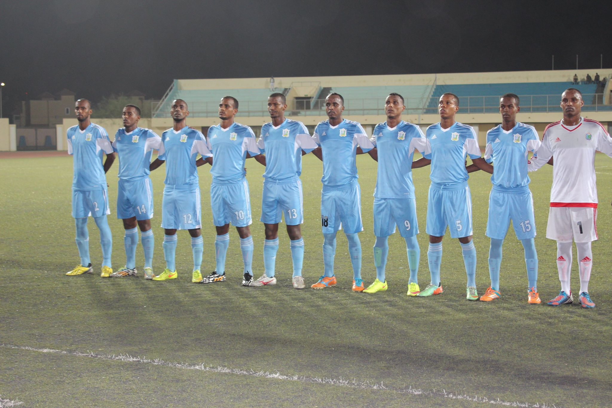 La sélection de Djibouti.
