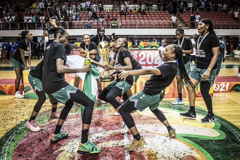 La joie des Nigérianes, championnes d'Afrique pour la troisième fois d'affilée.